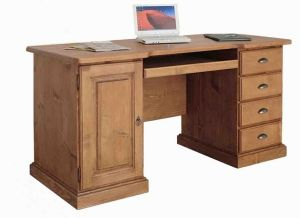 Bureau informatique en pin massif - West