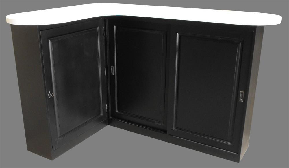 Meuble comptoir service arrondi avec retour sur mesure - Meuble comptoir bar professionnel ...