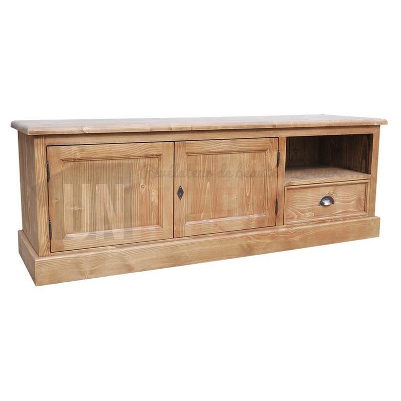 Acheter meuble tv 160cm pin massif for Meuble tv pin massif