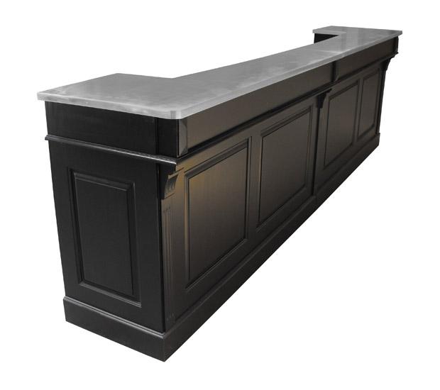 Comptoir de bar sur mesure pin massif et zinc - Comptoir de bar sur mesure ...