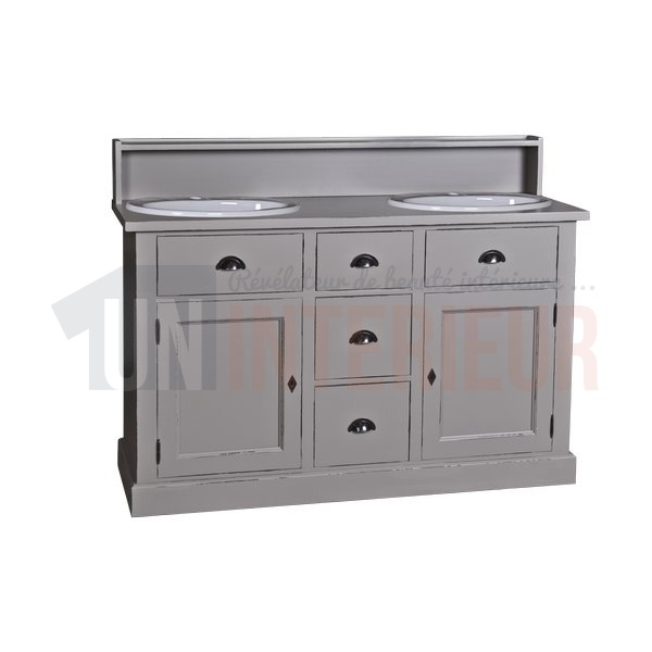 Acheter meuble bain 2 vasques offertes pin zinc for Meuble 2 vasques