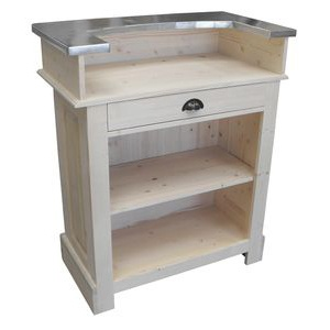 Meuble bar bistrot en pin massif 90cm - Chester