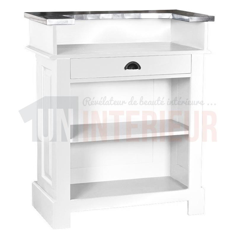 meuble de bar en 90cm zinc pin massif. Black Bedroom Furniture Sets. Home Design Ideas