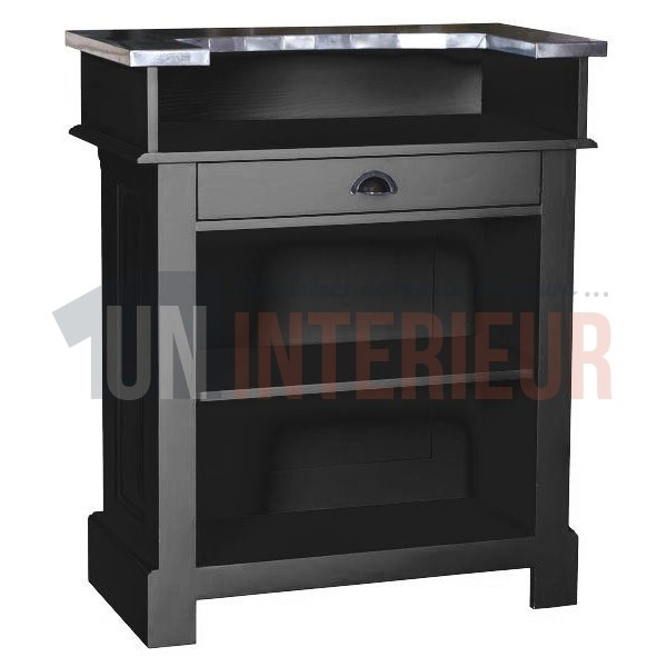 meuble de bar en 90cm zinc pin massif. Black Bedroom Furniture Sets. Home Design Ideas