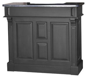 petit comptoir bar 120cm en pin zinc. Black Bedroom Furniture Sets. Home Design Ideas