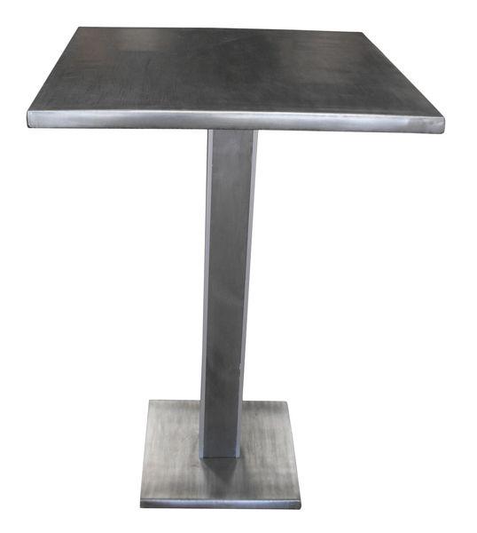 table sur mesure table en zinc classique. Black Bedroom Furniture Sets. Home Design Ideas